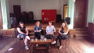 Me, Sue Moorcroft, Liz Harris and Christina Courtenay